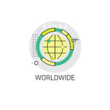 Earth Planet Worldwide Connection Icon Royalty Free Stock Images