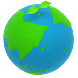 The earth and a plant Royalty Free Stock Image