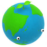 The earth and a plant Stock Image