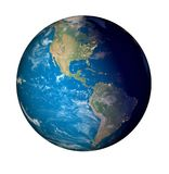 Earth plant day to night. Seen from space stock illustration