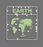 Earth Plastic model kit. Continents. World map Stock Photos