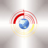 Earth and the poles. An illustration of the Earth and the poles Royalty Free Stock Photos