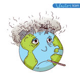 Earth with Pollution, Vector Stock Photography