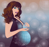 Earth pregnant women Stock Images