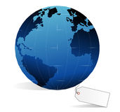 Earth and price tag Stock Photo