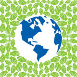 Earth protected by hands. Design  illustration Royalty Free Stock Photos