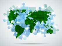 Earth puzzle royalty free illustration