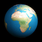 Earth  puzzle. 3d earth puzzle  with view on Africa Stock Photos