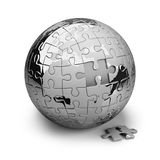 Earth of the puzzle Royalty Free Stock Photography