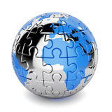 Earth puzzle Royalty Free Stock Photo