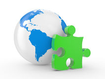 The earth and puzzles Royalty Free Stock Images