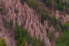 Earth Pyramides near Bolzano. Amazing view of the Dolomites a Unesco Natural World Heritage Site Stock Image