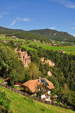 Earth Pyramides,South Tyrol. View of the Earth Pyramides of the Ritten Mountain in South Tyrol,Italy stock photo