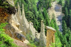 Earth pyramids in South Tyrol, Italy Royalty Free Stock Photos