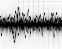Earth quake lines Royalty Free Stock Images