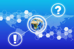 Earth with question mark Royalty Free Stock Image