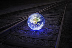 Earth on the rails Stock Images