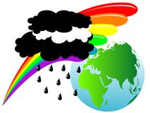 Earth and rainbow Stock Photos