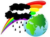 Earth and rainbow Stock Photos