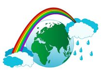 Earth and rainbow Royalty Free Stock Photos