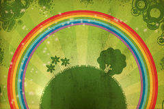 Earth and rainbow. grunge Royalty Free Stock Photography