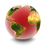 Earth Real Red Royalty Free Stock Images