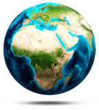 Earth real relief, modified maps Royalty Free Stock Photos