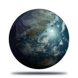 Earth: Realistic Earth View of Asia Royalty Free Stock Images