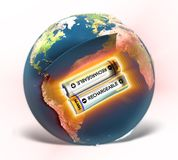 EARTH - rechargeable or not? (. Planet Earth is it rechargeable or not? How many resources we have left vector illustration