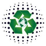 Earth recycle. Vector illustration of the earth in a recycle symbol Stock Photography