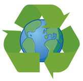 Earth recycle. Vector illustration Earth in recycle symbol Royalty Free Illustration