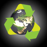 Earth recycle. Recycle the earth in gradient background high quality Stock Image