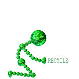 Earth Recycle. An earth man on his knees asking you to recycle Royalty Free Stock Photos