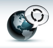 Earth and recycle in bubble Royalty Free Stock Photos