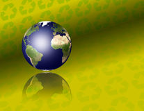 Earth with recycle symbols. High Resolution 3D Illustration Earth with recycle symbols Royalty Free Stock Photography