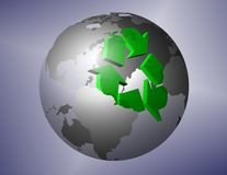 Earth recycling Royalty Free Stock Images