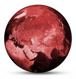 Earth red map Royalty Free Stock Image