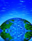 Earth with reflection Royalty Free Stock Images