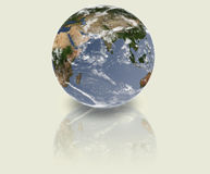 Earth. Reflection on the floor Royalty Free Stock Photography