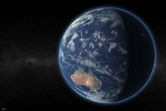 Earth render 1. This is me render - earth in space Royalty Free Stock Images