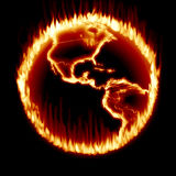 Earth Ring of Fire. Global Warming Earth Ring of Fire Stock Image