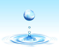 Earth and ripple Royalty Free Stock Image