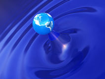 Earth ripple Stock Photo