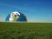 Earth rise Stock Photography