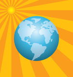 Earth and the rising sun Royalty Free Stock Images