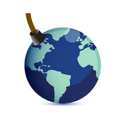 Earth at risk boom concept. Stock Photo