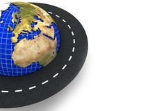 Earth and road background Stock Photo