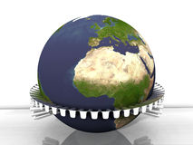 Earth and roll Stock Image