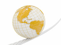 Earth on rope Royalty Free Stock Images