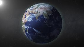 Earth rotate. Rotating earth in loop mode in full hd format stock illustration